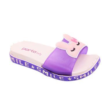 Porto JY-C981-6K Sandal Selop Anak Perempuan - Purple