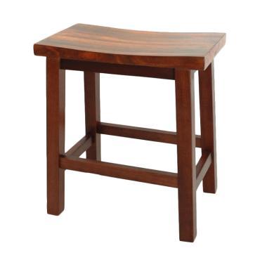 Infinia Home Wooden Barstool Kursi bangku kayu[46 cm]