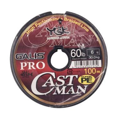 Senar PE YGK Galis Pro Castman 100M Size 6 Ukuran 60Lbs
