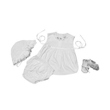 Baby Pink Newborn Babydoll Set (Putih)