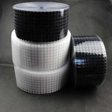 harga Baru NIKTO Tape Lakban Dots Velcro Hook  Loop Magic Sticker 450 Pairs 10mm - Hitam Diskon Blibli.com