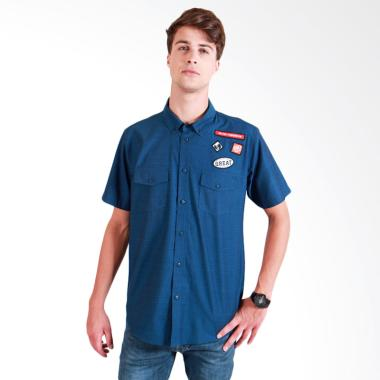 180 Degrees Denim Shirt Kemeja Pria - Biru
