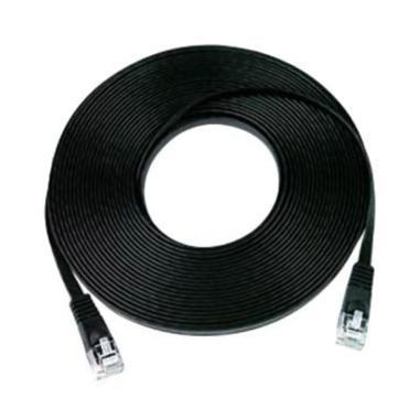 Mediatech 66927 Flat Kabel LAN   - Hitam [30 m/ Cat 6e]