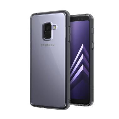 Rearth Ringke Fusion Casing for Samsung A8 Plus 2018 - Smoke Black