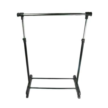 Krisbow garment rack single Extandable - Hitam