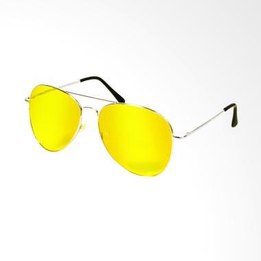 Yangunik Night View Glasses Kacamata Anti Silau - Kuning