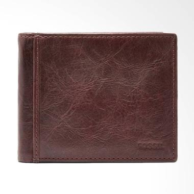 Fossil Ingram RFID Bifold Flip ID Dompet Pria - Brown [ML 3784200]