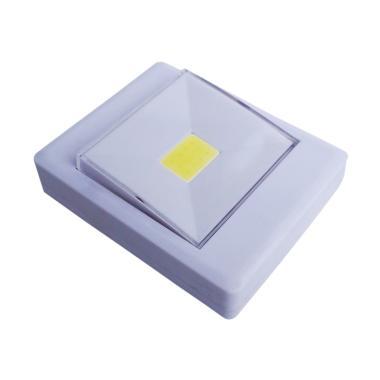 Yangunik KL1702 Kotak Stick Touch Lamp Lampu Tempel LED - Putih