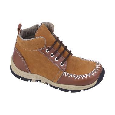 Syaqinah 068 Sepatu Boots Anak Laki-Laki - Tan