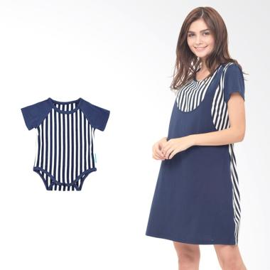 Mooimom Boy Straight Stripe Sling D ... il Menyusui & Anak - Navy
