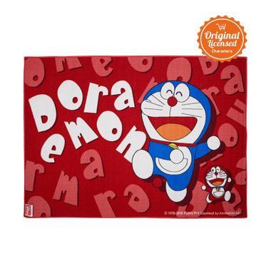 Doraemon Nylon Doraemon Alas Lantai - Pink