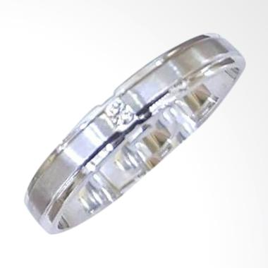 Pentacles FC02434 Wedding Ring White Gold with Diamond