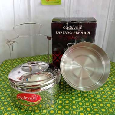 harga Rantang cookville 14x2 - rantang susun stainless 14 cm Multicolor Blibli.com