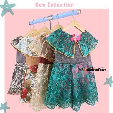 harga Elegan Dress Diana uk 1-2 Tahun  Dres Cape Brukat Kensi Anak Perempuan Impor Limited Blibli.com