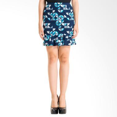 Bateeq FL007E-FW17 Regular Cotton Print Skirt - Blue c3f09ec416