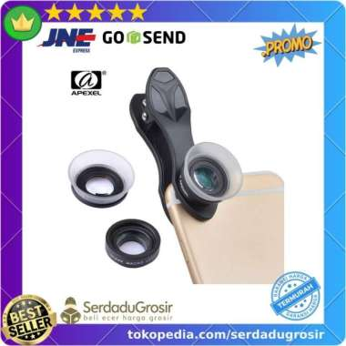 harga Jual APEXEL Lensa Kamera Smartphone Super Macro Lens Kit 12x24x Diskon Blibli.com