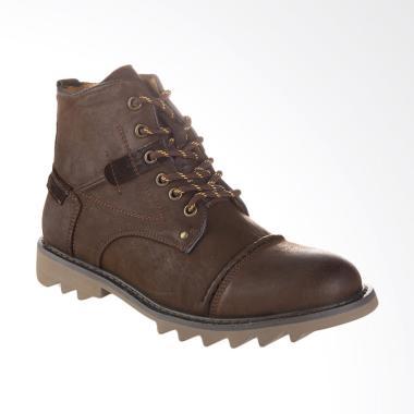 Jim Joker Boot Shoes Torn 1BG Sepatu Pria - Coffee