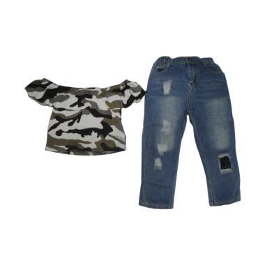 VERINA BABY Atasan Sabrina Army Style Plus Pants Setelan Pakaian Anak