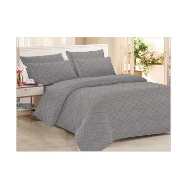 Clarin House Storm Front Emboss Jacquard Set Sprei dan Bed Cover - Grey