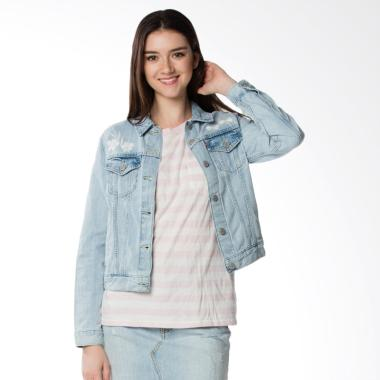 Levi's 29945-0029 Oriole Trucker Jacket Wanita - Soft Blue [Original]