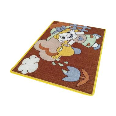Jupiter JK04BR Girl Karakter Anak-anak Karpet - Coklat [100 x 140 cm]