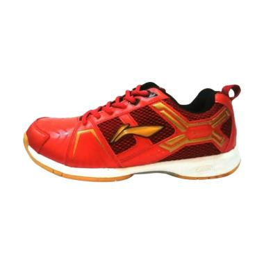 Li Ning Cross Sepatu Badminton - Red Gold