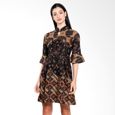 Wajik Modern Dress Batik - Coklat