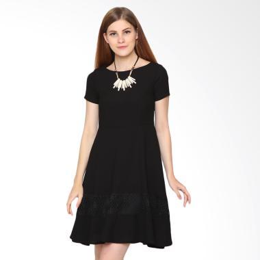 Agatha 4760.D Lace Mash Skater Dress - Black
