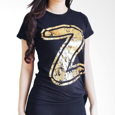 Mom Zumba Z-Tee Bow Baju Senam Wanita - Black