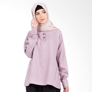 Hanalila Daily Hijab Diaz Tops Blouse Muslim Wanita – Purple