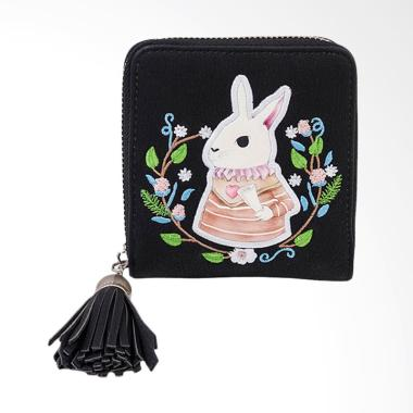 Lansdeal Small Mini Wallet Leather Dompet Wanita - Black
