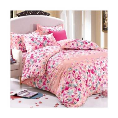Beglance Cotton Catalina Bed Cover - Multicolor