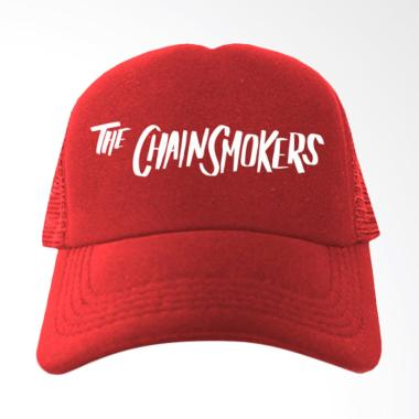 IndoClothing The Chainsmokers Topi Trucker - Merah