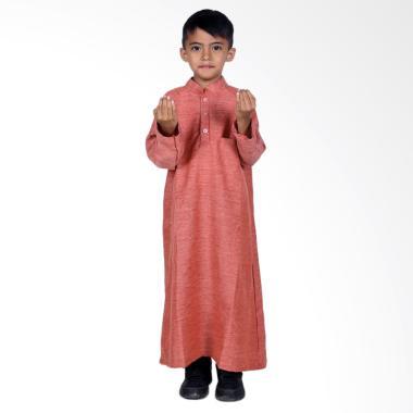 BajuYuli Koko Gamis Baju Muslim Anak Laki-laki - Merah Misty