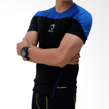 Waldos Sports Apparel Copa Baju Fitness Pria - Black Blue