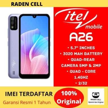 harga Itel A26 Ram 2/32 GB Handphone 4G Murah Handphone Android 4G Murah HP Android 4G Murah Garansi Resmi 1 Tahun Blibli.com