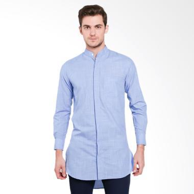 VM Panjang Baju Koko Atasan Muslim Pria - Mid Blue