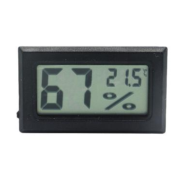 Sesawi LCD Temperature Mini Hygrometer Thermometer Digital - Hitam