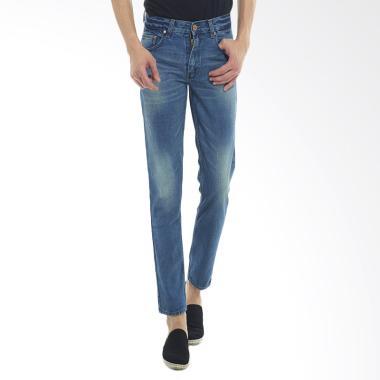 2Nd RED Fashion Premium Regular Fit Celana Jeans Pria - Biru [124709]