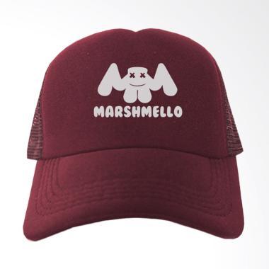 IndoClothing Marshmello Topi Trucker - Maroon
