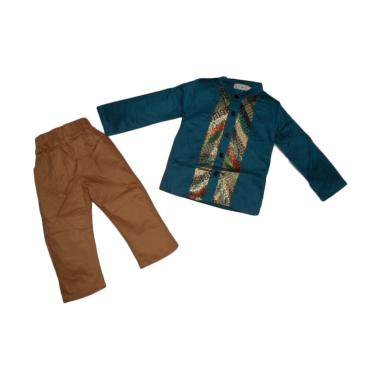VERINA BABY Variasi Batik Setelan Baju Koko Anak - Biru