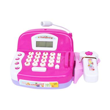 SNETOYS LS820A18 Cash Register with Microphone Mainan Anak - Pink