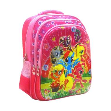 DJ Fashion 0589 6D Backpack Tas Sekolah Anak Perempuan [16 Inch/SD]