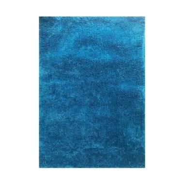 Vision Soft Shaggy Polos Karpet - Sky Blue [110 x 160 cm]