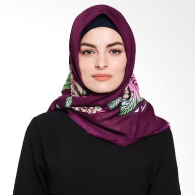 Ansania Saudia 07 Motif Flower Jilbab Segiempat - Purple