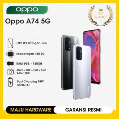 OPPO A74 5G Ram 6/128GB - Garansi Resmi