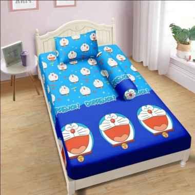Sprei Lady Rose Single Ukuran 90x200 Doraemon