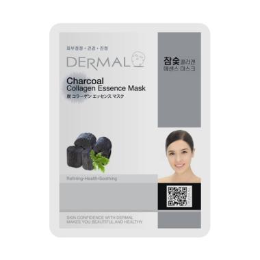 Dermal Charcoal Collagen Essence Masker Wajah