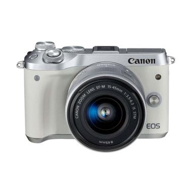 Canon EOS M6 Kit EF-M15-45mm f/3.5- ...  Mirrorless - White Putih
