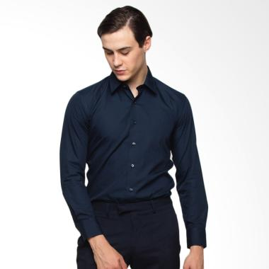 The Executive Long Sleeve Shirt Kem ... rk Blue [1-Lsibsc516O002]